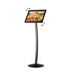 black-menu-stand