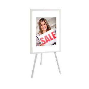 A0 Poster Easel Stand - White, Black & Silver