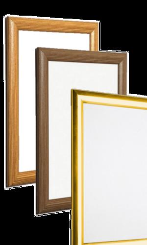 Easel Snap Frames - Gold, Pine & Oak