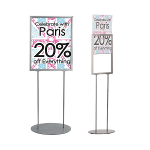 Info Poster Stand - Silver (A2 & A1)
