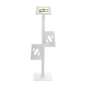 iPad Tablet Display Stand - Optional Literature Shelves